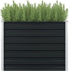 Plantenbak verhoogd 100x100x77 cm gegalvaniseerd staal antraciet