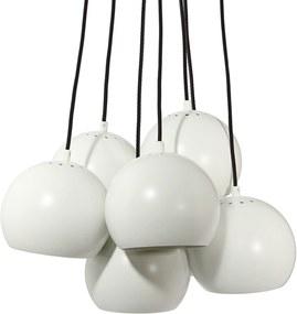 Frandsen Ball Multi hanglamp wit met zwart snoer
