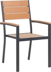 Tuinstoel bruin - eetstoel - eetkamerstoel - balkonstoel - terrasstoel - aluminium - PRATO