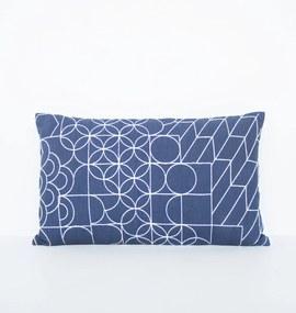 Urban Nature Culture   Kussen Shashiko 50 x 30 cm blauw sierkussens katoen vloerkleden & woontextiel kussens   NADUVI outlet