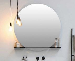 Spiegel rond op frame met indirecte led rondom en touch schakelaar - alu xmm (bxd)