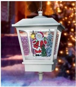 Hanglamp met sneeuweffect wit kerstman