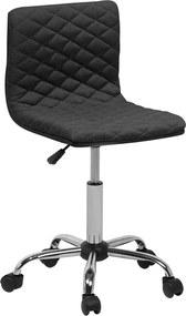 Bureaustoel zonder armleuningen zwart ORLANDO