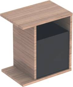 Geberit iCon zijkast v. fontein 40cm 37x40x24.5cm eiken 841139000