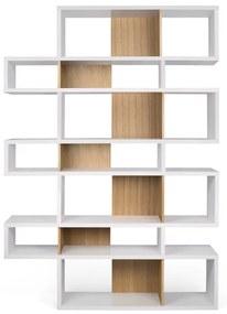 TemaHome London Hoge Design Boekenkast Wit - Eiken - 156x34x220cm.