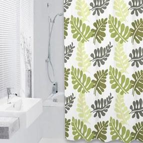 Douchegordijn Differnz Textiel Folia Polyester Olijf 180x200cm