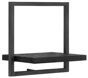 D-Bodhi Shelfmate Black Type B Wandplank Van Zwart Teakhout - 35x25x35cm.