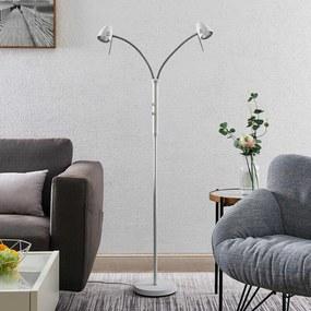Heyko LED vloerlamp, dimbaar, 2-lamps - lampen-24