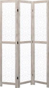 Kamerscherm met 3 panelen 105x165 cm massief hout wit