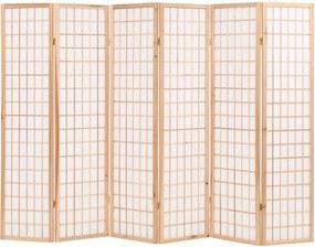 Kamerscherm inklapbaar Japanse stijl 240x170 cm naturel