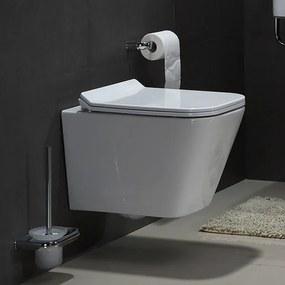 Wandcloset - Hangend toilet Alexandria Flatline - Inbouwtoilet Rimfree WC Pot