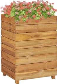 Plantenbak verhoogd 50x40x72 cm gerecycled teakhout en staal
