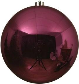 Kerstbal Glans XL - Knalroze