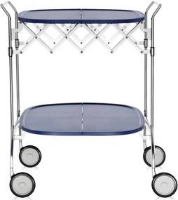 Kartell Gastone trolley zeeblauw