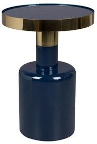 Zuiver Glam Emaille Bijzettafel Blauw - 36 X 36cm.
