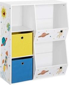 Nancy´s Speelgoed- en boekenplank voor kinderen - Speelgoed organizer - Boekenkast - Opbergruimte - Boekenplank - Opbergkast - Speelgoedorganisator - Speelgoedkast - Kinderkamer - MDF - Wit