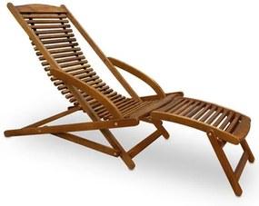Loungebank ergonomisch van Acacia hardhout