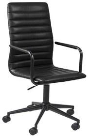 Moderne Bureaustoel Van Zwart Kunstleer