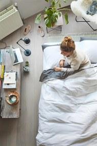 Emma | Dekbedovertrekset Serene tweepersoons: breedte 200 cm x lengte 200/220 cm + antraciet dekbedovertreksets katoen beddengoed | NADUVI outlet