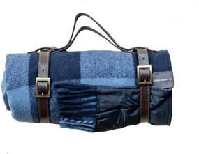 The Tartan Blanket Company - Picknickkleed Wol - Blauw
