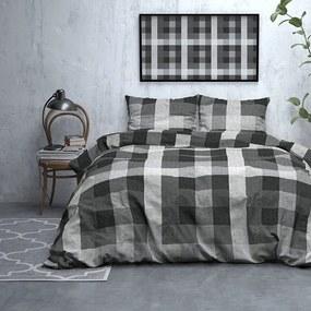 DreamHouse Bedding Steef - Verwarmend Flanel - Antraciet Lits-jumeaux (240 x 200/220 cm + 2 kussenslopen)