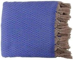 Sprei plaid blauw diamant katoen, 200-240 cm