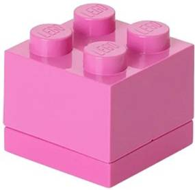 LEGO Opbergbox: mini brick 4 roze