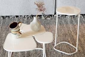 Zuiver Side Table Moondrop Multi White 67 cm - IJzer - Metaal - Zuiver - Industrieel & robuust