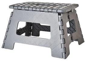 Inklapbaar krukje - grijs - 31x22x22 cm