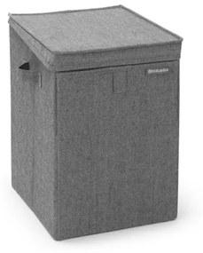Brabantia Wasbox stapelbaar 35 liter peper zwart 120442
