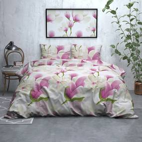 Sleeptime Elegance Flower Power - Flanel 1-persoons (140 x 200/220 cm + 1 kussensloop) Dekbedovertrek