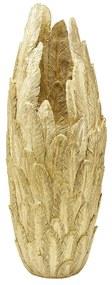 Kare Design Feathers Gold Gouden Vaas Van Veren M
