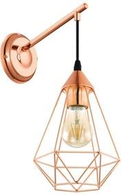 EGLO wandlamp Tarbes - koper - Leen Bakker
