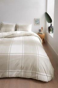 Ambiante | Dekbedovertrekset Lucas lits-jumeaux: breedte 240 cm x lengte 200/220 cm + zandkleurig dekbedovertrekken flanel | NADUVI outlet