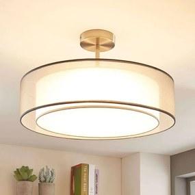 LED plafondlamp Pikka, 3-traps dimbaar, grijs