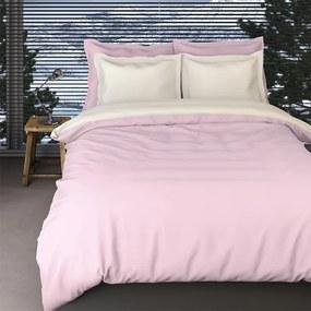 Romanette Comtesse - Verwarmend Flanel - Rose/Ivoor Lits-jumeaux (240 x 200/220 cm + 2 kussenslopen) Dekbedovertrek