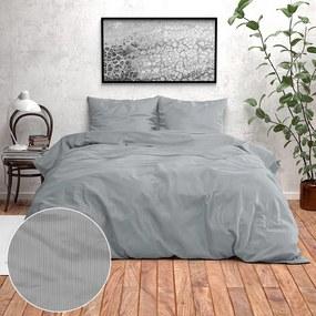 Fresh & Co Beverly - Grijs 1-persoons (140 x 200/220 cm + 1 kussensloop) Dekbedovertrek