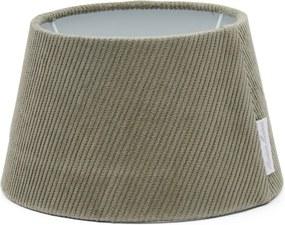 Rivièra Maison - Lovely Rib Velvet Lampshade grey 15x20 - Kleur: grijs