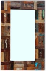 Spiegel massief gerecycled hout 80x50cm
