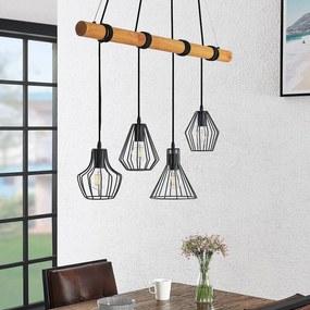 Samino hanglamp met vier kooikappen - lampen-24