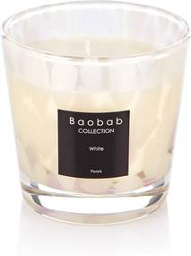 Baobab Collection White Pearls geurkaars
