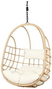 Hangstoel rotan - naturel - 84x61x110 cm