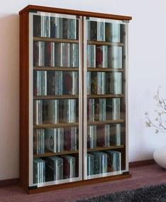 Vitrinekast - verzamelkast Galerie met glasdeuren (Noten)