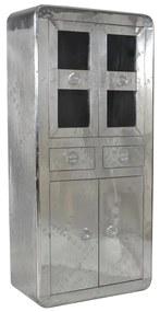 Aluminium Vitrinekast Met 2 Laden - 90x40x187cm.