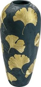 Kare Design Elegance Ginkgo Zwarte Vaas Met Goud 74 Cm