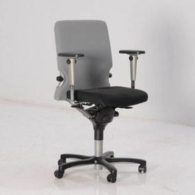 Bureaustoel Comforto 77, zwart / grijs, 3D armleggers (kleine zitting)