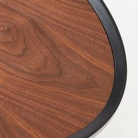Kave Home Kinsley Ovalen Houten Salontafel - 102 X 56cm.