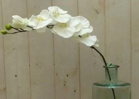 Kunstvlinderorchidee op steker wit