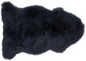 Helgar schapenvacht, 60 x 90cm, middernachtblauw
