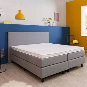 Boxspringset - Odin 140 x 200, Matrassen: 2x Medium (<120 kg), Kleur: Stof Antraciet